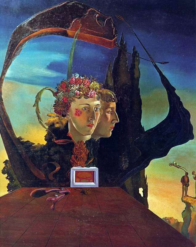 Portrait of the Viscountess Marie Laura de Noai by Salvador Dali