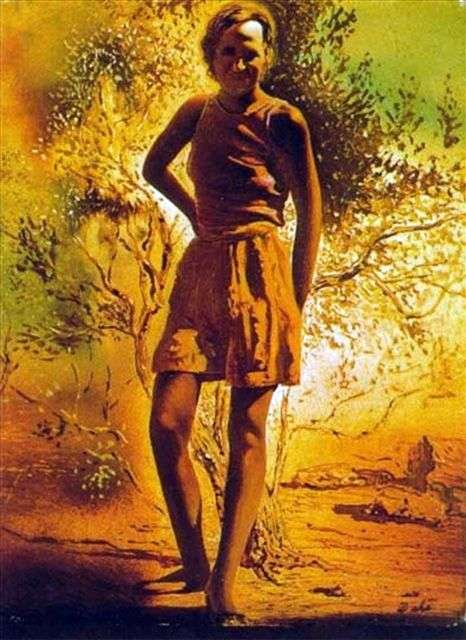 Portrait of Galya on a summer day by Salvador Dali