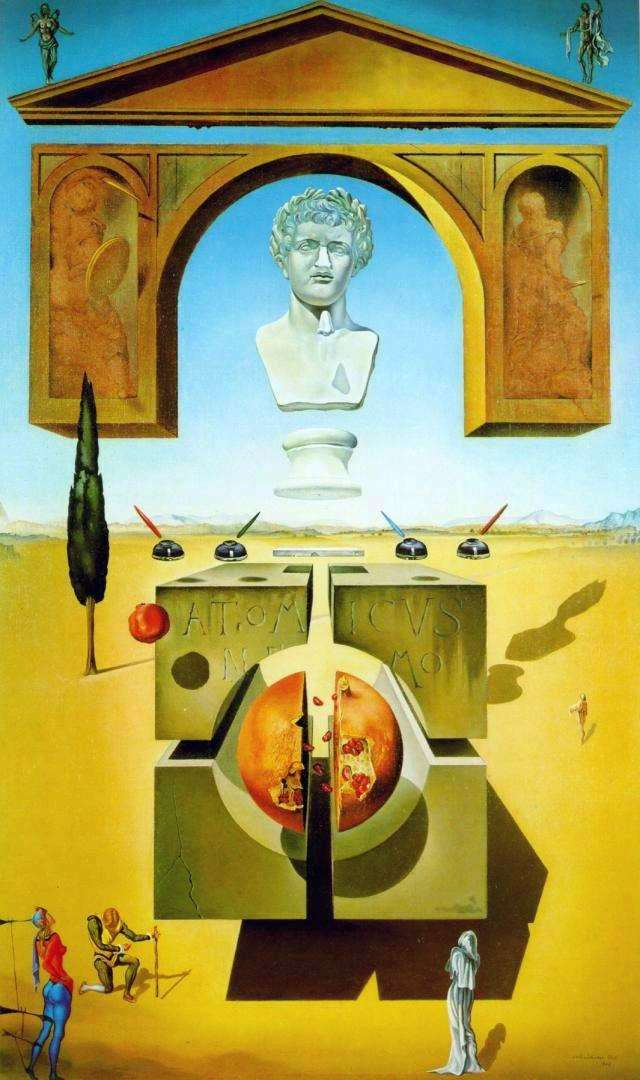 Splitting of an atom by Salvador Dali