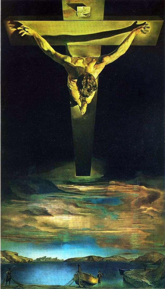 Christ of St. John Cross by Salvador Dali