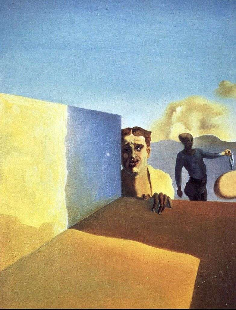 Barber, saddened by the cruelty of good times by Salvador Dali