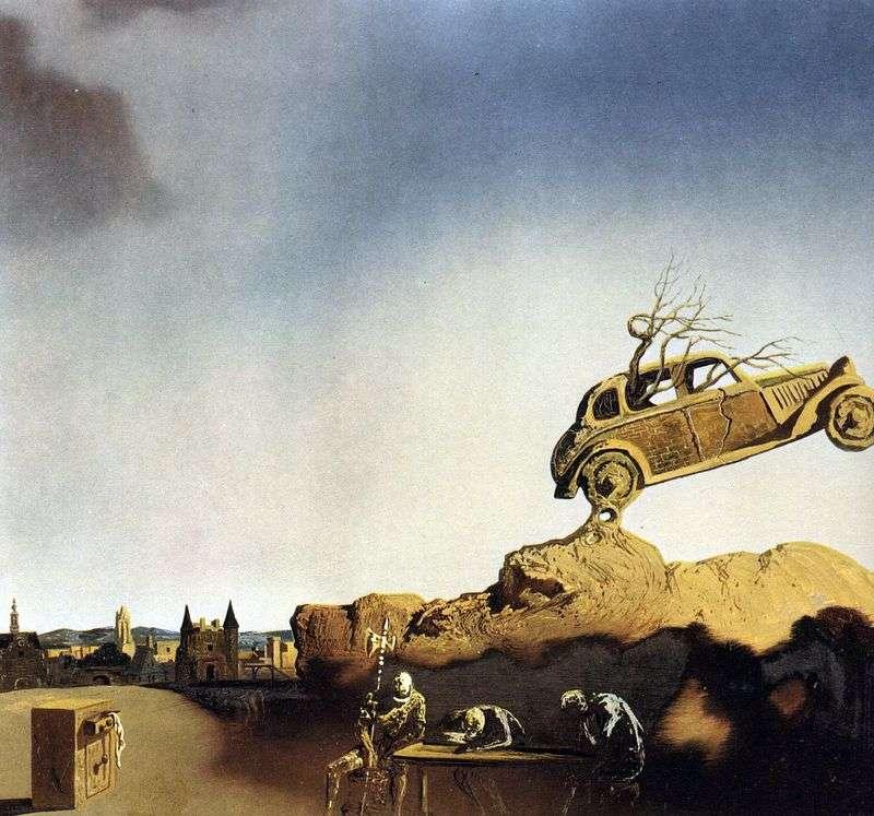 The phenomenon of the city of Delft by Salvador Dali