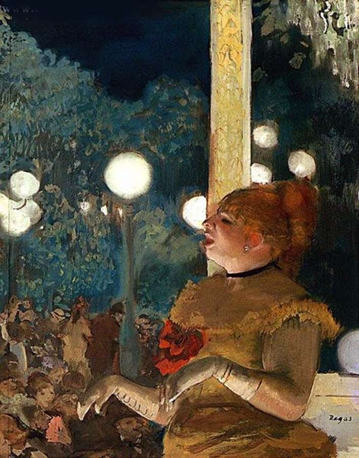 Aria dog or singer with a glove by Edgar Degas