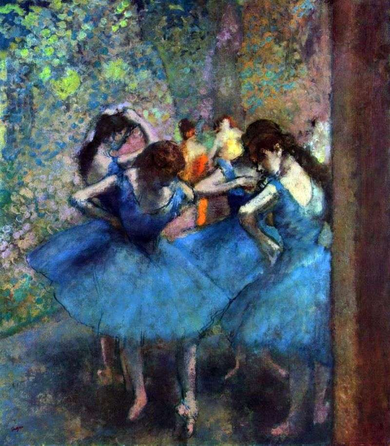 Dancers at rehearsals by Edgar Degas