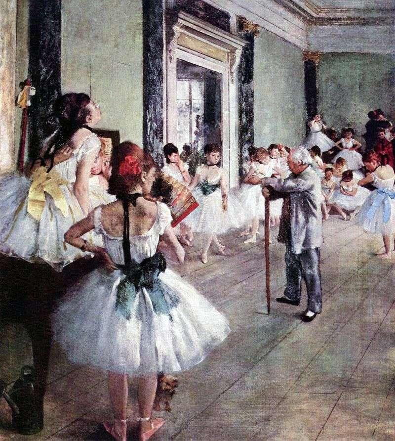 Dance class (Dance lesson) by Edgar Degas