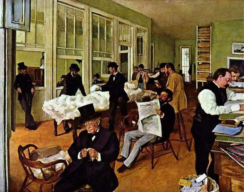 Cotton office in New Orleans by Edgar Degas