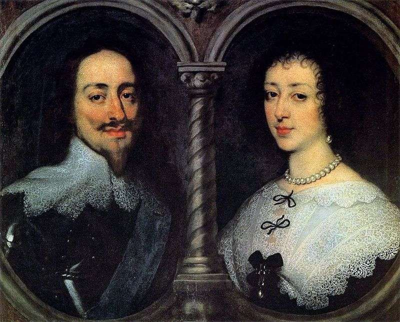 Portrait of Charles I and Henrietta Maria by Anthony Van Dyck