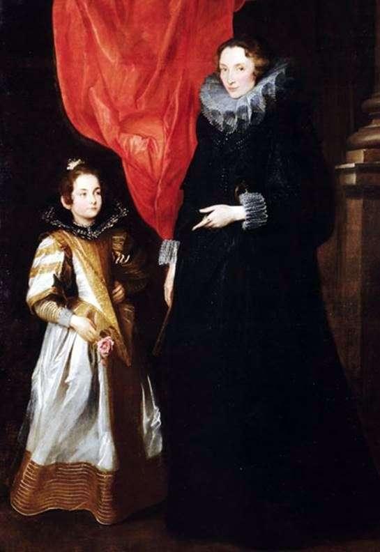 Portrait of Geronima Brignole Sale with her daughter Maria Aurelia by Anthony Van Dyck
