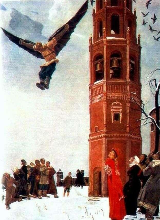 Nikita the first Russian flyer by Alexander Deineka