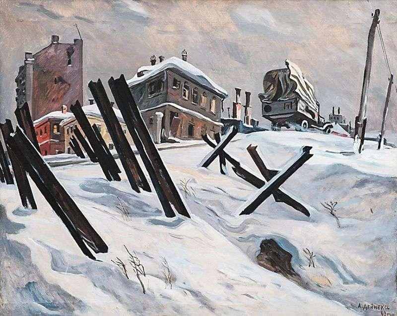 Outskirts of Moscow. November1941 by Alensandra Deineka