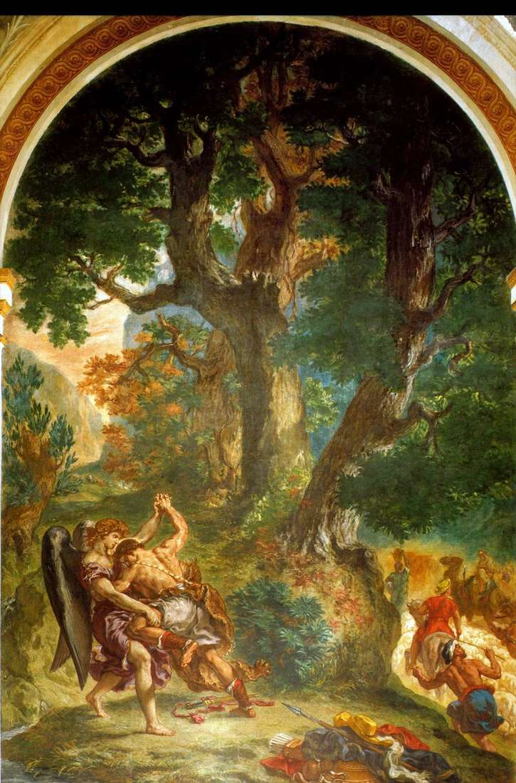 Combat of Jacob with an Angel by Eugene Delacroix