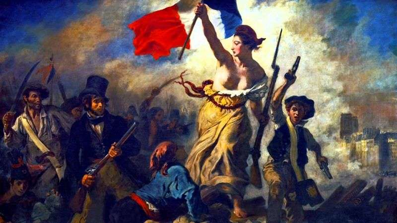 Freedom, the Leading People (Freedom on the Barricades) by Eugene Delacroix