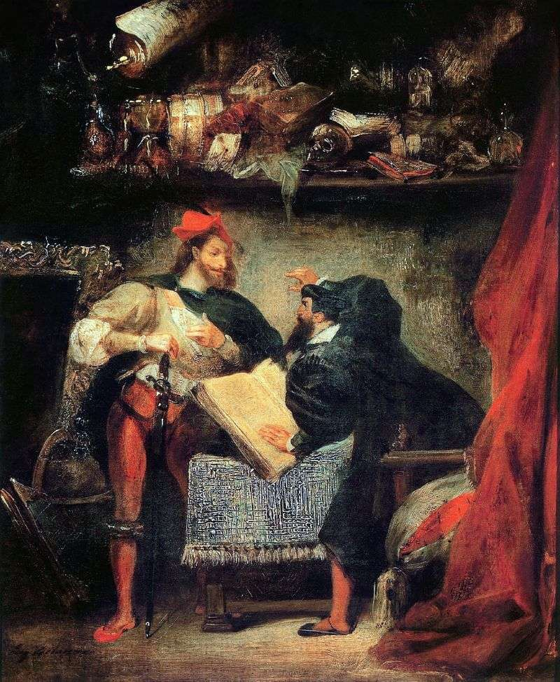 Faust and Mephistopheles by Eugene Delacroix