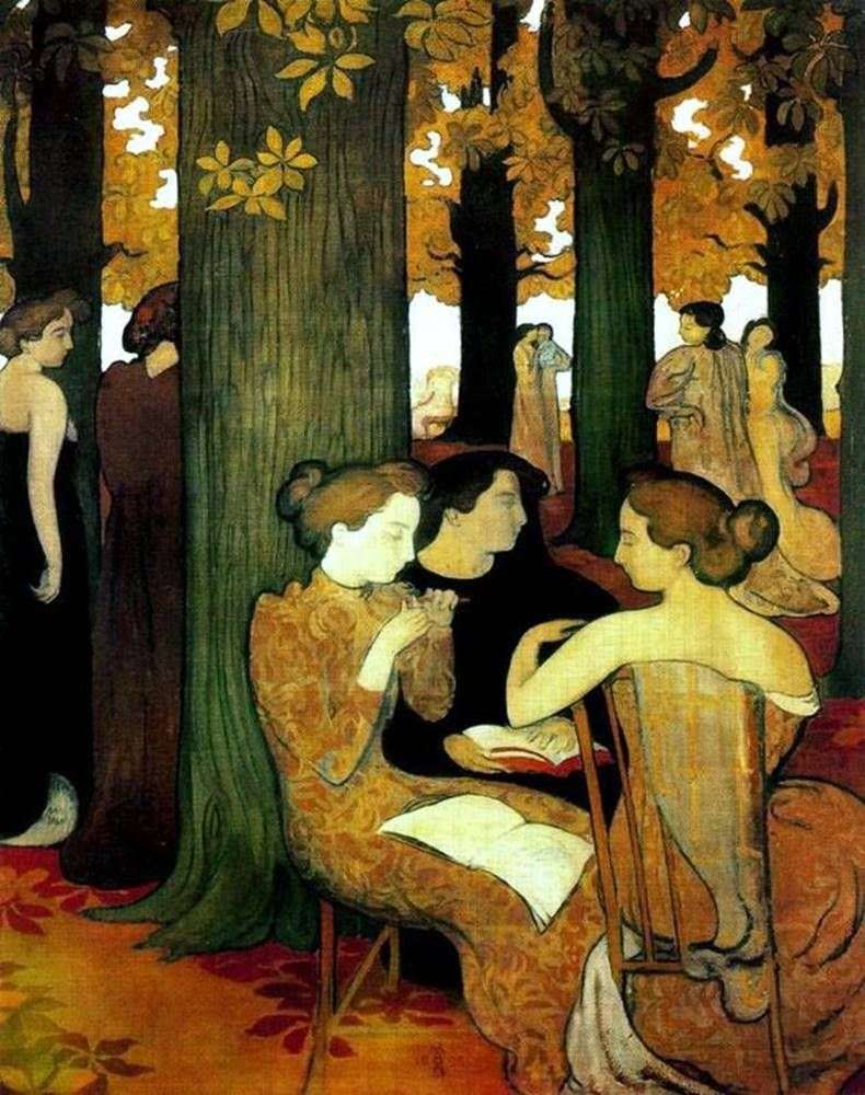 Muse in the sacred grove by Maurice Denis