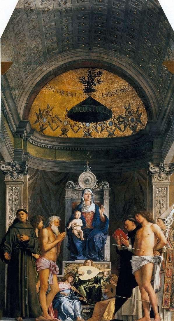 Madonna with saints by altar of San Jobbe   Jambellino