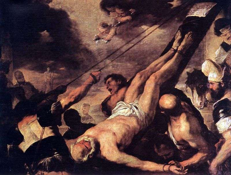 The Crucifixion of St. Peter by Luca Giordano