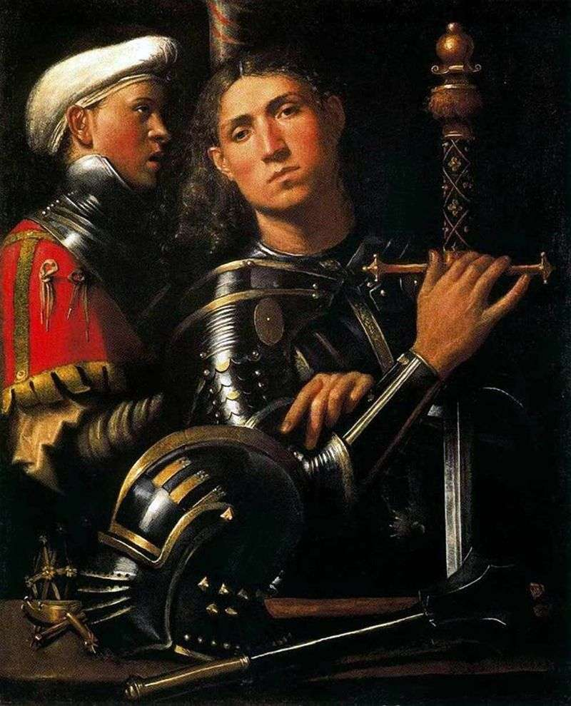 Warrior with his squire by Giorgione