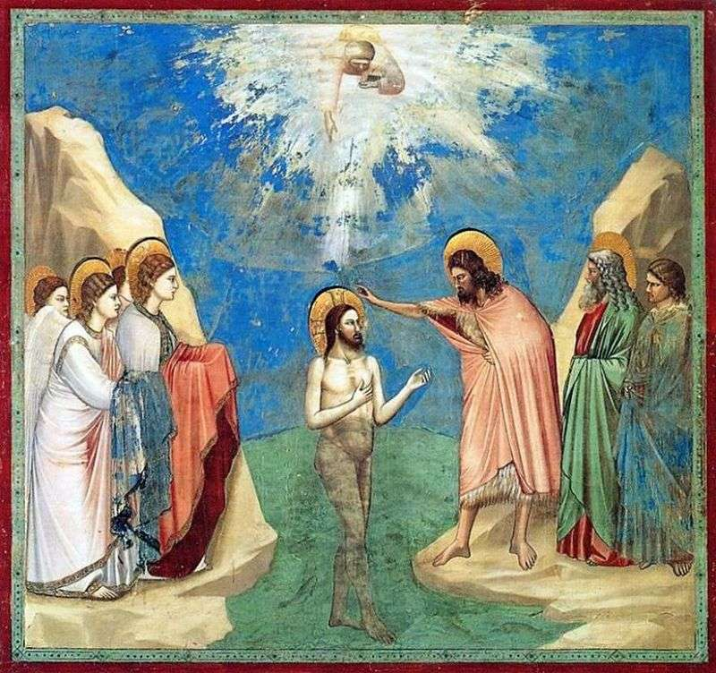 The Baptism of Christ by Giotto