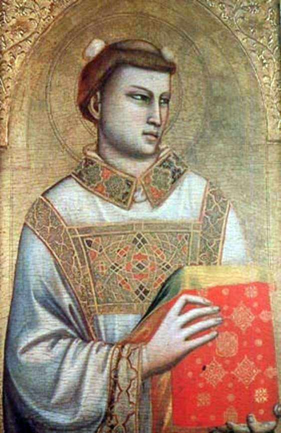 The image of St. Stephen by Giotto