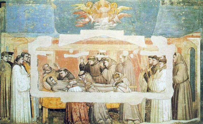 The death of St. Francis by Giotto