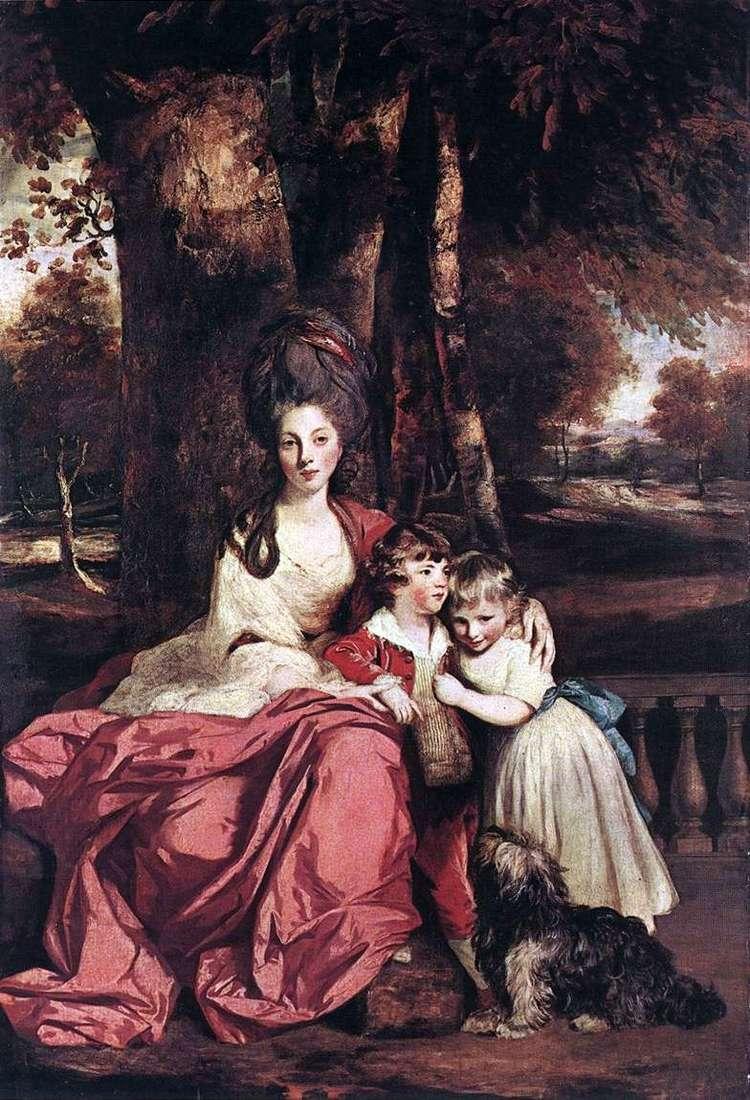 Lady Elizabeth Delme and her children by Reynolds Joshua
