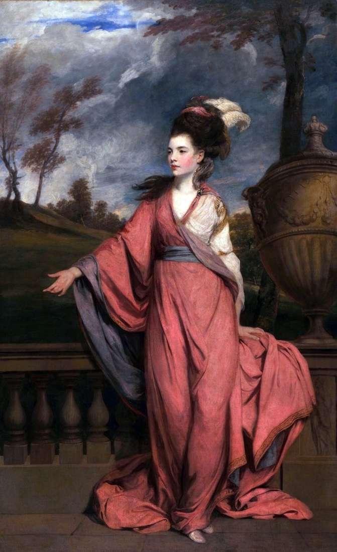 Portrait of Jane, Countess of Harrington by Reynolds Joshua