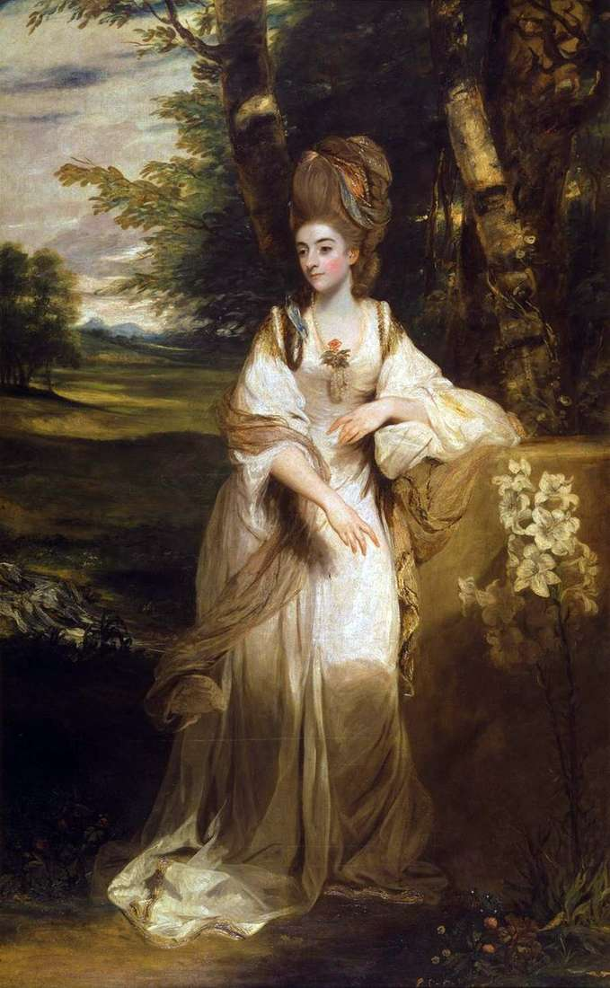 Portrait of Lady Bumpfild by Reynolds Joshua