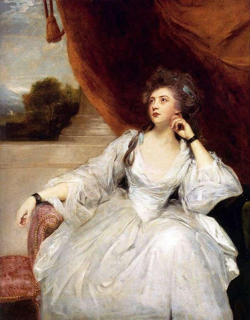 Portrait of Mrs. Stanhope by Reynolds Joshua