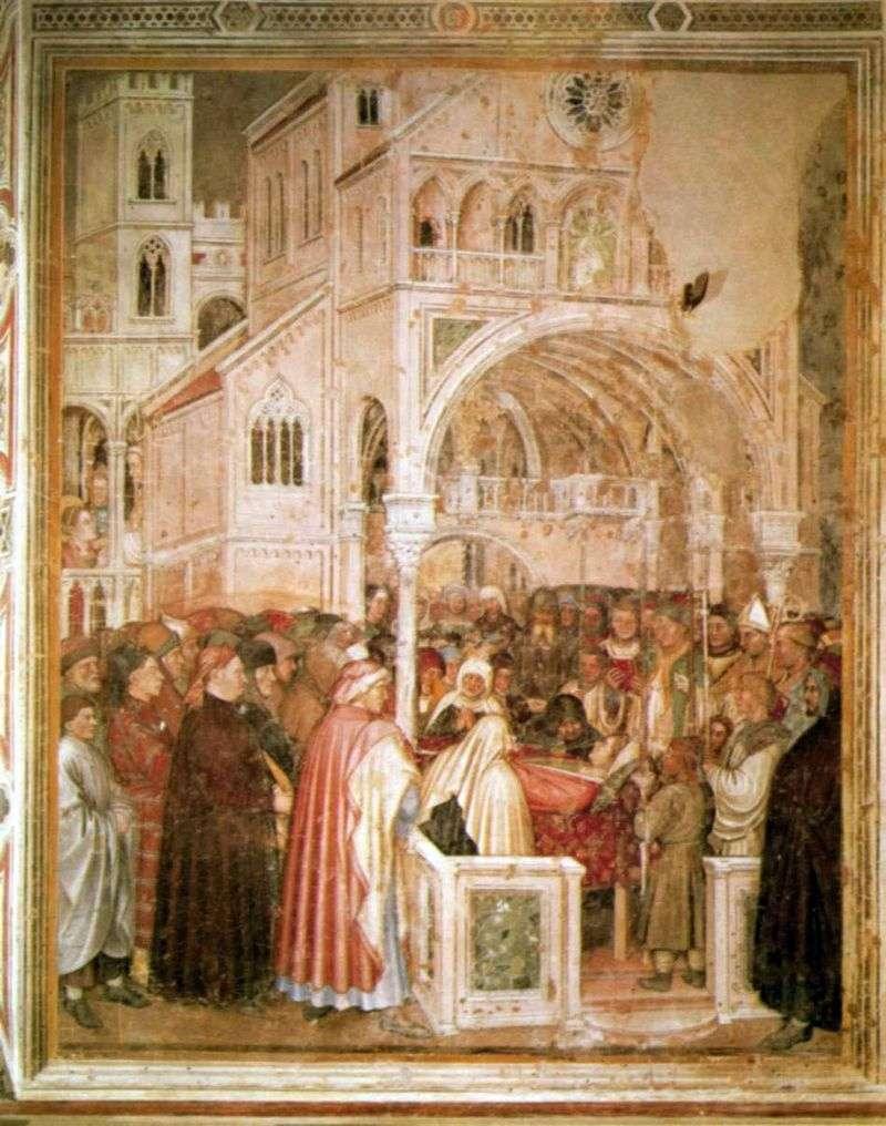 Holy Lucia on her deathbed. 1379 84 by Alticiero da Zevio
