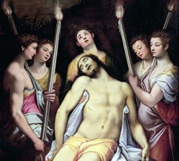 Lamentation of Christ by angels by Federico Dzukkari