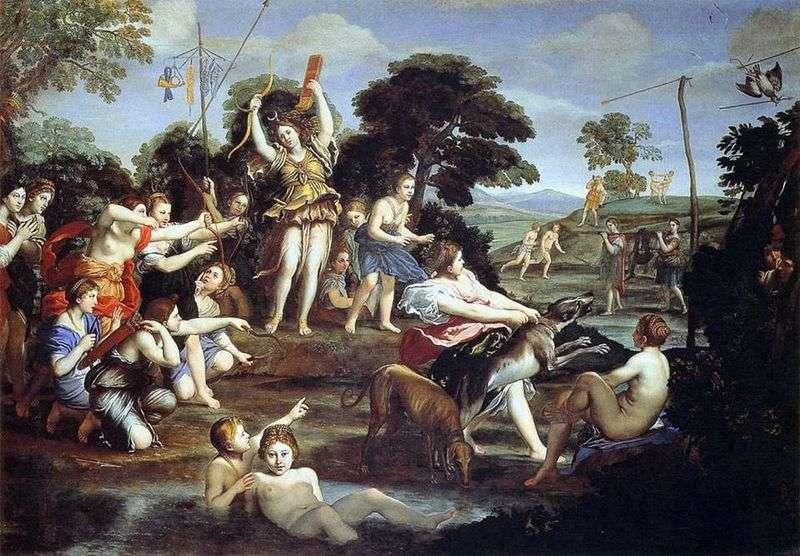 Hunting of Diana by Domenichino