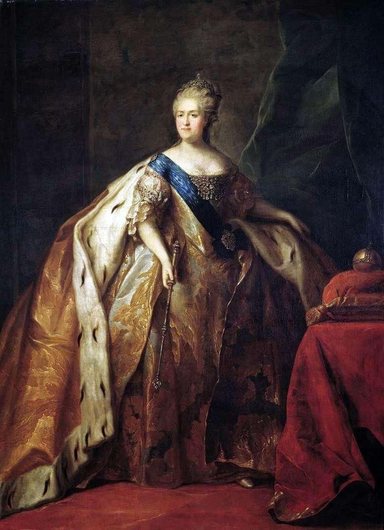 Portrait of Empress Catherine II by Peter Drozhdin