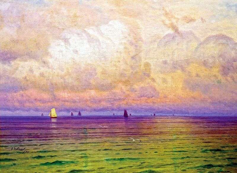 Sea. Sailboats by Nikolay Dubovsky