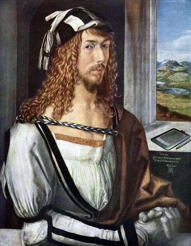 Self portrait at age 26 by Albrecht Durer