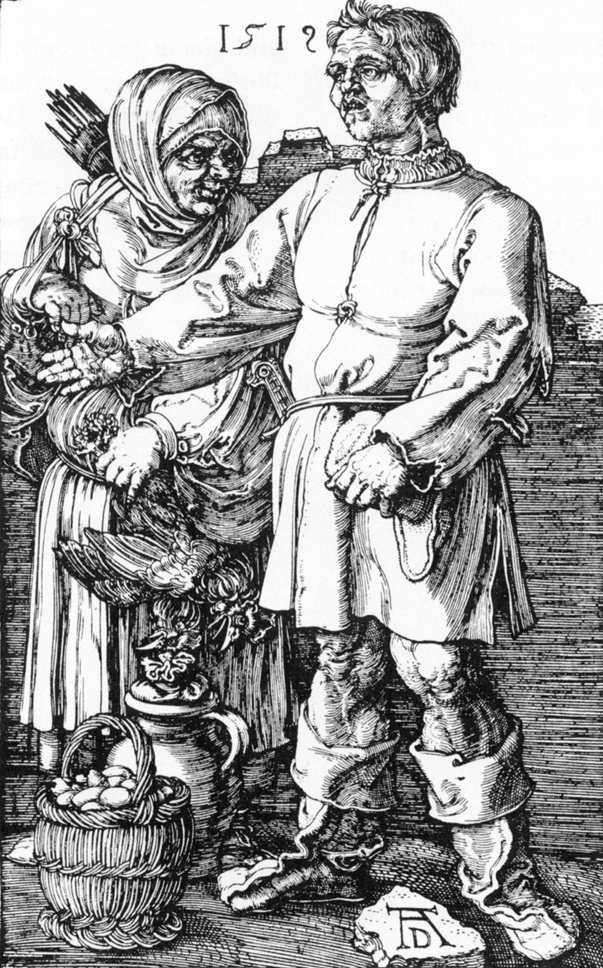 Peasant with his wife in the market by Albrecht Durer