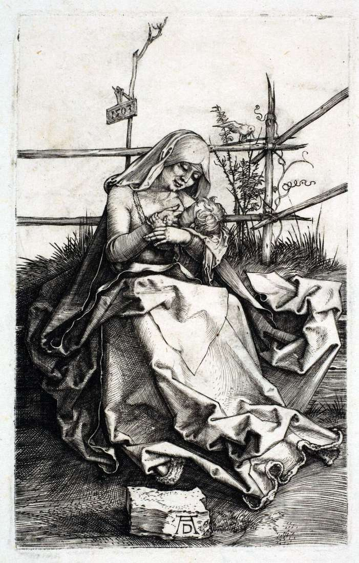 Maria on the bench from the turf by Albrecht Durer