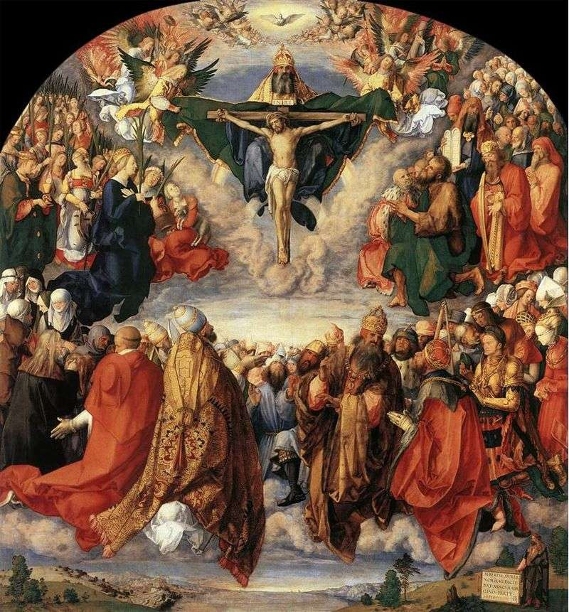 Worship of the Holy Trinity by Albrecht Durer