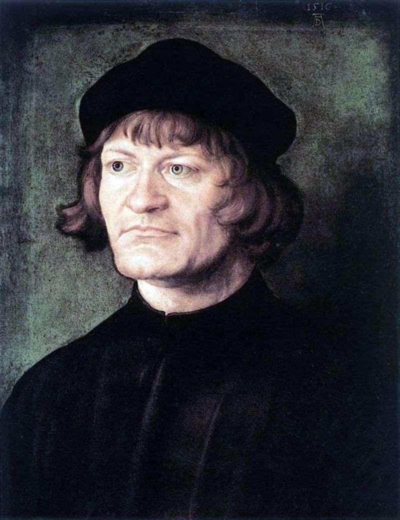 Portrait of Cleric by Albrecht Durer