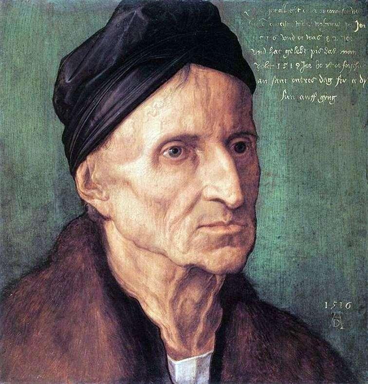 Portrait of Michael Wolgemut by Albrecht Durer