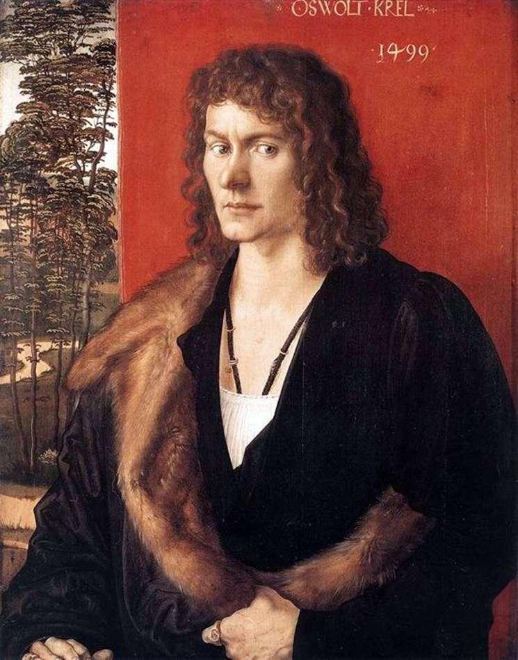 Portrait of Oswald Krell by Albrecht Durer