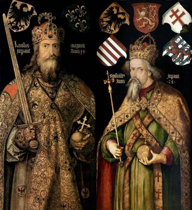 Portraits of the Emperors Charles and Sigismund by Albrecht Durer
