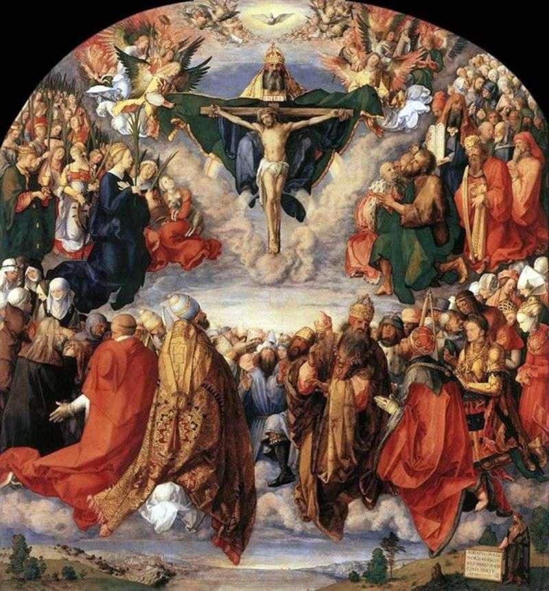 Feast of All Saints by Albrecht Durer