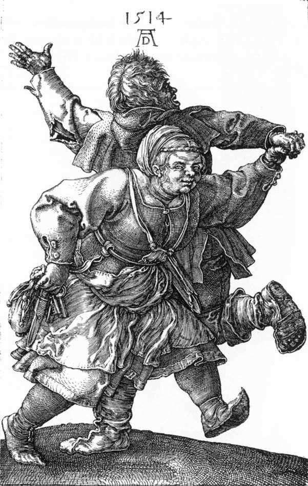 Dancing peasants by Albrecht Durer