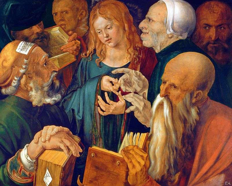Christ among the scribes by Albrecht Durer