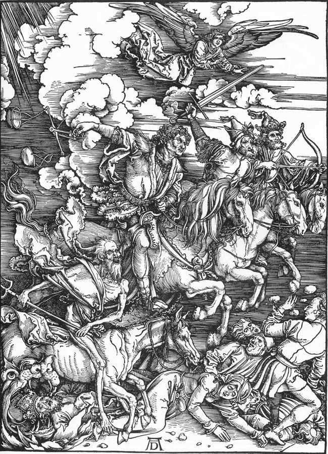Four horsemen of the Apocalypse by Albrecht Durer