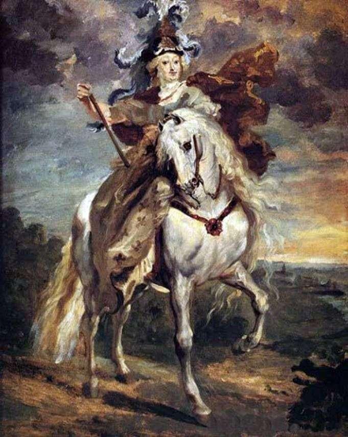 Maria de Medici in the Battle of Pont de Xie by Theodore Gericault