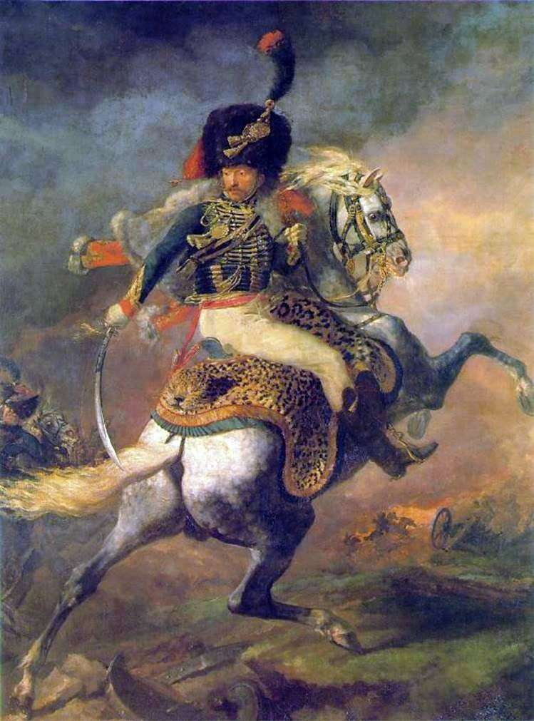 Officer of the horse rangers of the Imperial Guard, going on the attack by Theodore Gericault