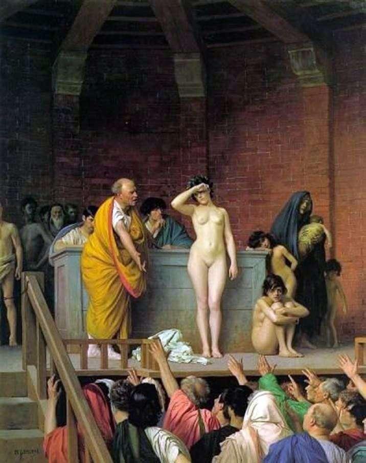 Auction slaves by Jean Leon Jerome