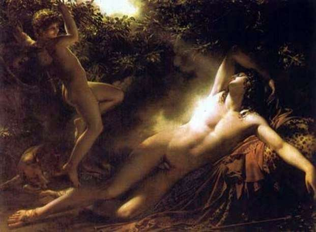 The Dream of Endymion by Anne Louis Girodeau Trioson