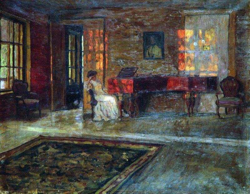 Evening interior by Stanislav Zhukovsky